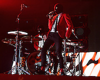 SUNRISE FL - JULY 02: Josh Dun of Twenty One Pilots performs at The BB&T Center on July 02, 2016 in Sunrise, Florida. Photo by MPI04 / MediaPunch