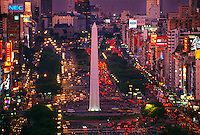 Obelisco (the Obelisk), Avenida 9 de Julio, Buenos Aires, Argentina