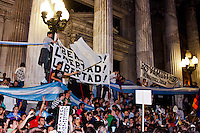 People protest against the policies government of Argentina's President Cristina Fernandez in Buenos Aires April 18, 2013. Photo by Juan Gabriel Lopera / VIEWpress.