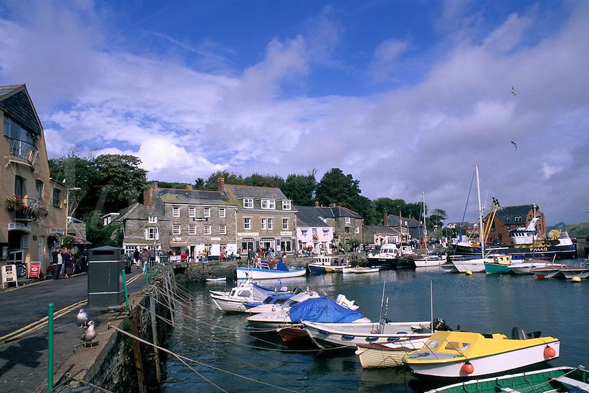 Harbor ships in Cornwall England