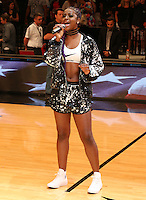 BROOKLYN, NEW YORK - JULY 21, 2016 Justine Skye performs at the Roc Nation Summer Classic Charity Basketball Game July 21, 2016 at The Barclays Center in Brooklyn, New York. Photo Credit: Walik Goshorn / Media Punch