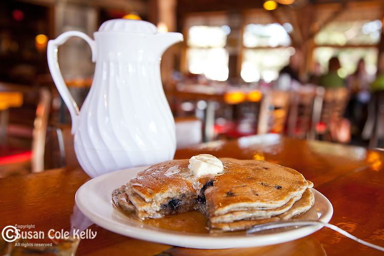 Blueberry pancakes at Parker's Maple Barn in Mason, NH, USA