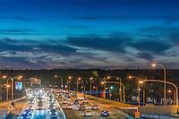 Schuylkill Expressway, Traffic, Cars, Lights,   Lit, Dusk,  Night, Twilight, Philadelphia Pennsylvania, Phila. PA,