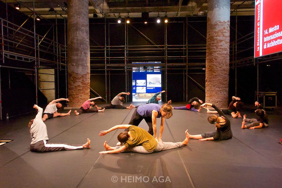 Venice, Italy. 14th Architecture Biennale 2014, &quot;fundamentals&quot;.<br /> Arsenale. &quot;monditalia, a scan&quot;<br /> modern dance