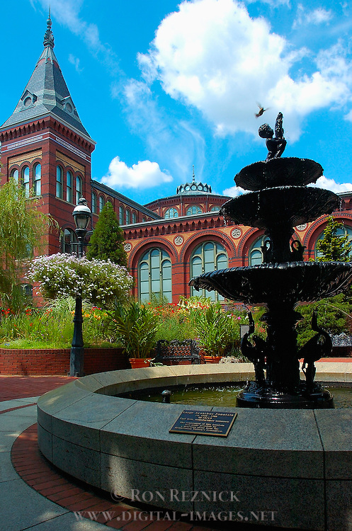 Smithsonian Institution, Art and Industry Building, Large Acanthus Fountain, Mary Ripley Garden, National Mall, Washington DC