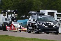 Aug 20, 2016; Brainerd, MN, USA; NHRA top fuel driver Doug Kalitta during qualifying for the Lucas Oil Nationals at Brainerd International Raceway. Mandatory Credit: Mark J. Rebilas-USA TODAY Sports