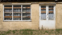 Empty Boarded up House, Camber Sands, Camber, East Sussex, Britain - Apr 2014.