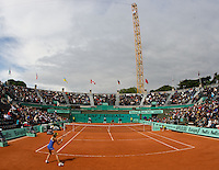 Daniela Hantuchova (SVK) against Virginie Razzano (FRA) in the first round of the Women's Singles. Rezzano beat Hantuchova 6-3 6-3..Tennis - French Open - Day 3 - Tues 26th May 2009 - Roland Garros - Paris - France..Frey Images, Barry House, 20-22 Worple Road, London, SW19 4DH.Tel - +44 20 8947 0100.Cell - +44 7843 383 012