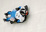 15 December 2006: Eiko Nakayama from Japan, banks through a turn at the FIBT Women's World Cup Skeleton Competition at the Olympic Sports Complex on Mount Van Hoevenburg  in Lake Placid, New York, USA. &amp;#xA;&amp;#xA;Mandatory Photo credit: Ed Wolfstein Photo<br />