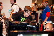 August 29, 2010. Raleigh, North Carolina.. Faces of amateur Halo 3 players as they compete. This is a coach who helps the players with an overall stragedy for the game's attacks.. Major League Gaming (MLG), the league for professional videogame players, held their 50th Pro Circuit competition at the Raleigh Convention Center, with gamers from all over the country coming to for 3 days of competition in Halo 3, Tekken 6, Super Smash Bros. Brawl, Starcraft 2 and World of Warcraft.