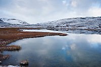 Small lake in mountain landscape, Lapland, Sweden