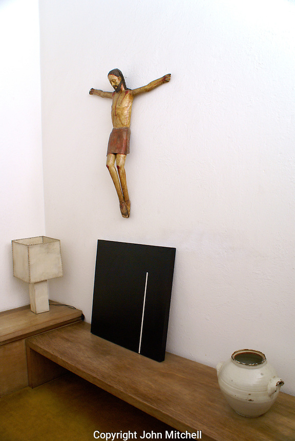 Crucifix and modern art, Mexican architect Luis Barragan is a UNESCO World Heritage Site.