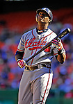 16 September 2007: Atlanta Braves outfielder Brandon Jones in action against the Washington Nationals at Robert F. Kennedy Memorial Stadium in Washington, DC. The Braves shut out the Nationals 3-0 to take the third game of their 3-game series.. .Mandatory Photo Credit: Ed Wolfstein Photo