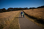 Hikers enjoy Gualala Point Regional Park in Gualala, Calif., on July 3, 2011.