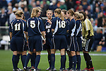 3 December 2006: Notre Dame's starters huddle up. The University of North Carolina Tarheels defeated the University of Notre Dame Fighting Irish 2-1 at SAS Stadium in Cary, North Carolina in the NCAA Division I Women's College Cup championship game.