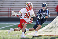 College Park, MD - March 18, 2017: Maryland Terrapins Ben Chisolm (39) is being defended by Villanova Wildcats Nick Tortoriello (16) during game between Villanova and Maryland at  Capital One Field at Maryland Stadium in College Park, MD.  (Photo by Elliott Brown/Media Images International)
