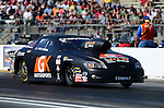 May 18, 2012; Topeka, KS, USA: NHRA pro stock driver Erica Enders during qualifying for the Summer Nationals at Heartland Park Topeka. Mandatory Credit: Mark J. Rebilas-