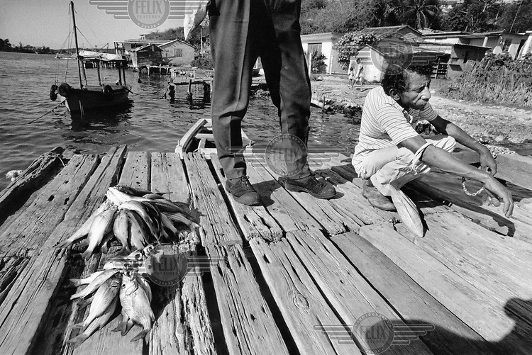 Fisherman with his catch..
