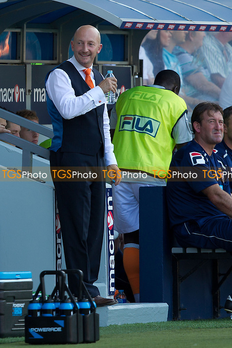 Ian Holloway, Manager, Blackpool FC in relaxed mood - Millwall vs Blackpool - NPower Championship Football at the New Den, London - 18/08/12 - MANDATORY CREDIT: Ray Lawrence/TGSPHOTO - Self billing applies where appropriate - 0845 094 6026 - contact@tgsphoto.co.uk - NO UNPAID USE.