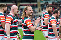 Sam Harrison of Leicester Tigers looks on after the match. Aviva Premiership match, between Leicester Tigers and Sale Sharks on April 29, 2017 at Welford Road in Leicester, England. Photo by: Patrick Khachfe / JMP