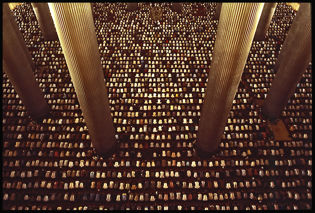 prayers at Istiqlal Mosque, Jakarta, Indonesia