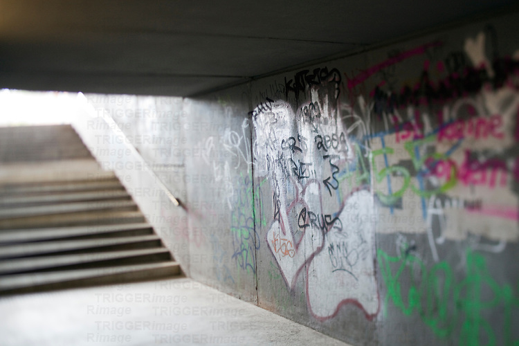 Graffiti on a passageway, Berlin, Germany