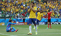Brazil's Fred after Missing chance