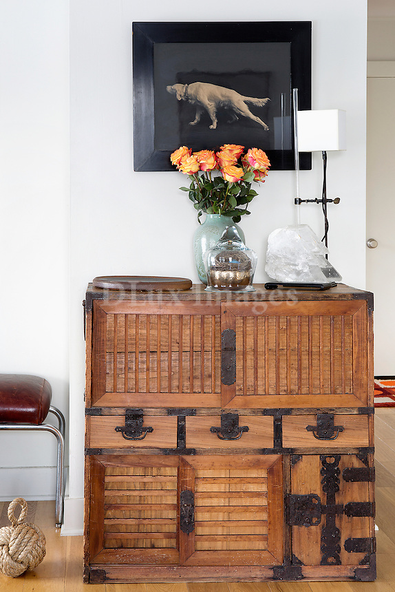 Modern rustic wooden cabinet