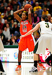 13 December 2009: Oklahoma State University Cowgirls' guard/forward Precious Robinson, a Junior from San Diego, California, in action against the University of Vermont Catamounts at Patrick Gymnasium in Burlington, Vermont. The Lady Cats were unable to hold onto a second half lead, falling to the Cowgirls 68-63. Mandatory Credit: Ed Wolfstein Photo