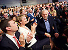 Labour Leadership <br /> Conference <br /> at The QE Conference Centre, Westminster, London, Great Britain <br /> 12th September 2015 <br /> <br /> Corbyn 's vote is being applauded by Yvette Cooper and Andy Turnham <br /> <br /> <br /> <br /> Photograph by Elliott Franks <br /> Image licensed to Elliott Franks Photography Services
