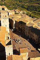 Arial View of San Gimignano - Tuscany - Chainti Italy