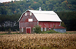 A collection of Barns that still can be seen while traveling the countryside in  the beautiful State of Wisconsin.<br /> Buffalo County- barn with Fence Shop sign Hwy 35 and Hwy 25 North