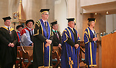 Dinitaries at the degree ceremony, University of Surrey.