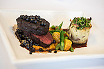 Hickory grilled bison with red potato horseradish cake and huckleberry reduction, which will be served for the inaugural lunch on Friday, January 4, 2013 in Washington, DC.