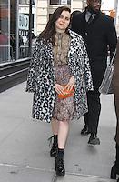 NEW YORK, NY - FEBRUARY 21: Mae Whitman seen in New York City on  February 21, 2017. Credit: RW/MediaPunch