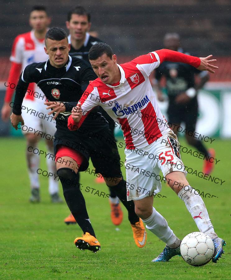 Fudbal Jelen Super League season 2015-2016<br /> Crvena Zvezda v Vozdovac<br /> Slavoljub Srnic and Borislav Terzic (L)<br /> Beograd, 28.11.2015.<br /> foto: Srdjan Stevanovic/Starsportphoto&copy;