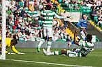 Celtic v St Johnstone...29.08.15  SPFL   Celtic Park<br /> Dedrick Boyata reacts after scoring the own goal<br /> Picture by Graeme Hart.<br /> Copyright Perthshire Picture Agency<br /> Tel: 01738 623350  Mobile: 07990 594431