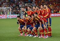 FUSSBALL  EUROPAMEISTERSCHAFT 2012   VIERTELFINALE Spanien - Frankreich      23.06.2012 Teamfoto Spanien