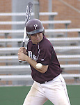 Pearland's #7 Michael Speciale looks at the ball as it pass over the plate during the game against FB Austin during the 2006 Alvin Yellowjacket Tournament, 03/10/06.
