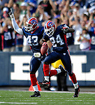 30 September 2007: Buffalo Bills cornerback Terrence McGee (24) celebrates an interception against the New York Jets at Ralph Wilson Stadium in Orchard Park, NY. The Bills defeated the Jets 17-14 for their first win of the 2007 season...Mandatory Photo Credit: Ed Wolfstein Photo