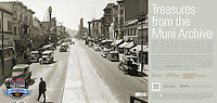 Reconstruction of Mission Street | July 24, 1936  | Treasures from the Muni Archive at the SFO International Terminal
