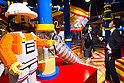 June 14, 2012, Tokyo, Japan - Journalists look inside the LEGOLAND Discovery Center Tokyo during a press preview event. The LEGOLAND Discovery Center contains over 3 million LEGO bricks in-house, a 4D movie theater, iconic city land marks of Tokyo all made of LEGO, and a interactive laser ride. The discovery center will open to the general public on June 15, 2012. (Photo by Christopher Jue/AFLO)