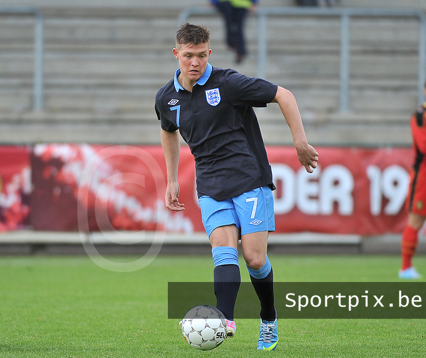 Belgium U19 - England U19 :  Maximilian Clayton (7).foto DAVID CATRY / Nikonpro.be