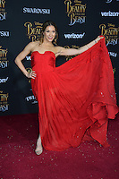 Allison Holker at the premiere for Disney's &quot;Beauty and the Beast&quot; at El Capitan Theatre, Hollywood. Los Angeles, USA 02 March  2017<br /> Picture: Paul Smith/Featureflash/SilverHub 0208 004 5359 sales@silverhubmedia.com