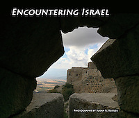 1. &quot;Encountering Israel&quot;: portfolio and proposed book cover. Made at Nimrod Fortress, the largest Crusader-era fortification in Israel, Golan Heights. <br /> <br /> Built during the Middle Ages, high above the Hermon Valley to protect the road linking the Galilee to Damascus, its control changed hands during the 12th - 13th centuries from the Crusaders to the Muslims, who carved impressive Arabic inscriptions into its massive stones.<br />  <br /> When I made this image, I was looking through an embrasure, an opening designed for defense: to watch for enemies, launch crossbows, and hurl stones. As I looked from the darkness toward the light, I thought mightily about Israel's ongoing conflicts. I would soon plant the &quot;Tree of Life&quot; to honor my recently deceased parents, but on my first day in Israel, I was brooding about ancient battles and what the future might bring.