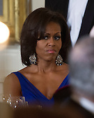 First lady Michelle Obama hosts a dinner with her husband, United Stats President Barack Obama to honor our Armed Forces who served in Operation Iraqi Freedom and Operation New Dawn and to honor their families in the East Room of the White House in Washington, D.C. on Wednesday, February 29, 2012..Credit: Ron Sachs / Pool via CNP