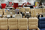 Upholstery workshop for Falcon business jets at Dassault finishing centre in Little Rock, AR, USA. Little Rock. June 2007..© Etienne de Malglaive
