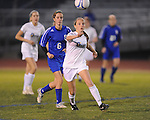 Oxford High's Zoe Scruggs vs. Saltillo in girls high school soccer in Oxford, Miss. on Friday, December 14, 2012.