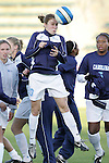 3 November 2006: North Carolina's Heather O'Reilly (20), pregame. North Carolina defeated Clemson 3-0 at SAS Soccer Park in Cary, North Carolina in an Atlantic Coast Conference women's college soccer tournament semifinal game.