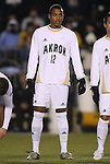 11 December 2009: Akron's Teal Bunbury. The University of Akron Zips defeated the University of North Carolina Tar Heels 5-4 on penalty kicks after the game ended in a 0-0 overtime tie at WakeMed Soccer Stadium in Cary, North Carolina in an NCAA Division I Men's College Cup Semifinal game.